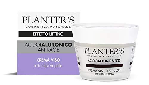 Planter's - Crema Viso Anti-age Effetto Lifting all'Acido Ialuronico. 50 ml