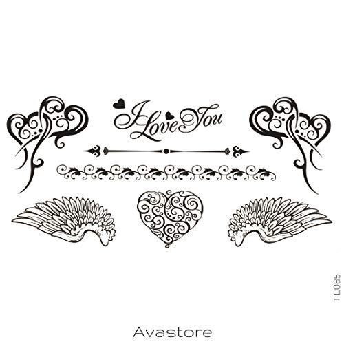 Tatuaggio Temporaneo Je t' aime tatuaggio Effimero Donna I love you–avastore
