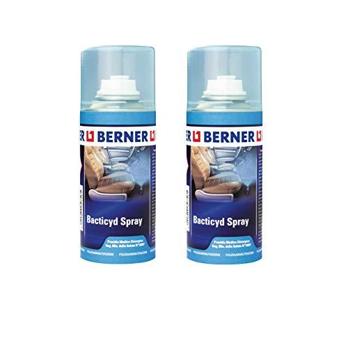 Berner 2 Pezzi Bacticyd Spray igienizzante climatizzatore, sanificante per climatizzatori, disinfettante superfici Automatico 150 ml