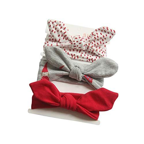COUXILY Neonate Fasce morbide in cotone Fiocco annodato con fiocco Fascia elastica Solido e stampato Fiocco di colore Fiocco per capelli per i più piccoli Neonati Set regalo per bambini (B01)