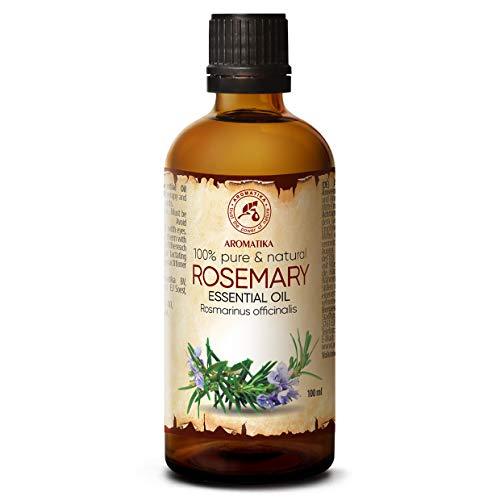 Olio Essenziale di Rosmarino - 100ml - Rosmarinus Officinalis - Profumi per Ambienti - Oli Essenziali per Aromaterapia - Aromi per Diffusori - Olio per Corpo - Integratori per Capelli