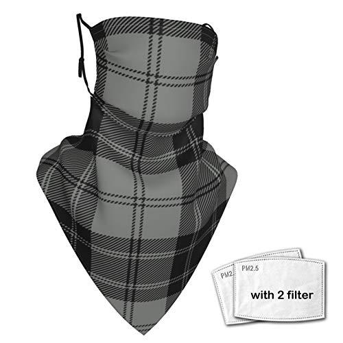 Scudo per il viso Magic Headwear Douglas Grigio Tartan Unisex Varietà Sciarpa Avvolgere Bandanna Copricapo Ghette Collo Sciarpa Maschera
