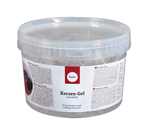 Rayher Hobby 3130300 Candela Gel, Tazze A 2 kg = Circa 2500 ml