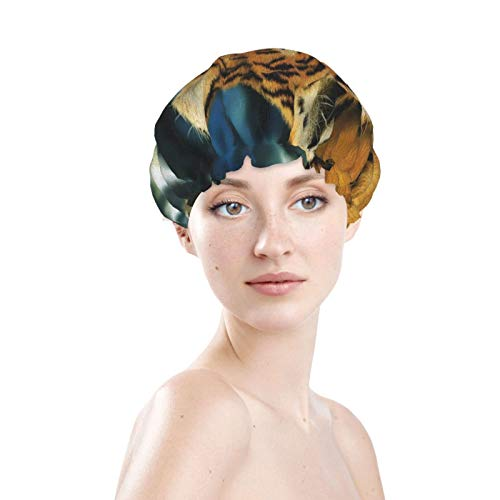 Lazy Tiger - Cuffia da bagno per capelli, multiuso, morbida, elastica, impermeabile, per capelli