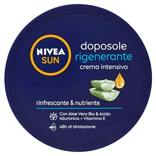 NIVEA SUN Crema intensiva rinfrescante & nutriente con Aloe Vera Bio & Acido Ialuronico + Vitamina E, 300 ml