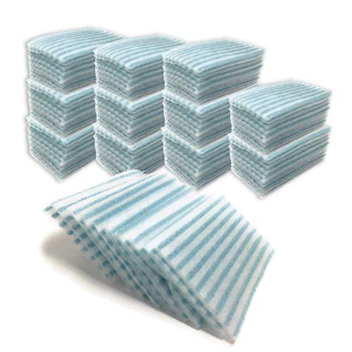 Pack 120 unità. Spugne saponate monouso 12 confezioni da 10 spugne saponate per igiene 21x12cm