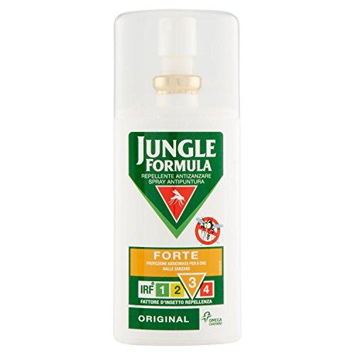Jungle Formula Forte Repellente Antizanzare, Spray Antipuntura Ottimo per Uso Quotidiano, Efficace fino a 6 Ore