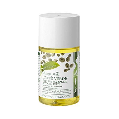 Bottega Verde, Caffe Verde Olio per massaggio anticellulite*con estratto di Caffe Verde e mix di oli essenziali (100 ml) - rassodante, levigante