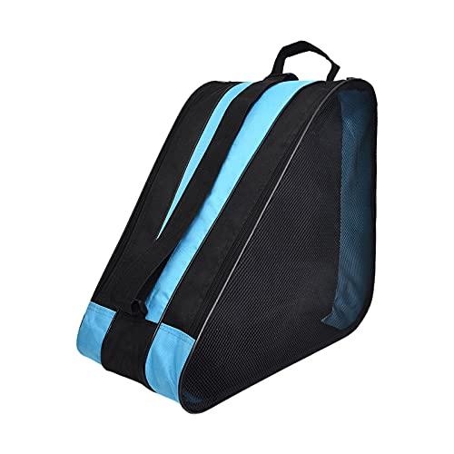 Borsa portapattini Skate Bag per Donne Uomo e Bambini,Borsa per Pattini Roller Skate Scarpe Borsa,Blu,besbomig