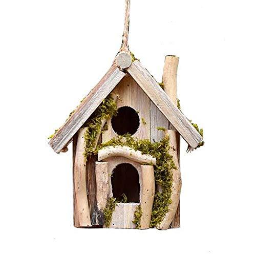 Lwieui Gabbie per Uccellini di nidificazione di Uccelli di Sicurezza Giardino Tatuaggi Bird Hotel Cabin for Uccelli Selvatici attaccatura di Legno Nido di Uccello Box