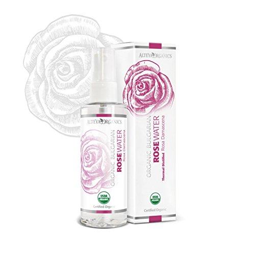 Alteya Organic Acqua di Rosa – spray 100 ml – 100% USDA Certificata Organica Pura Bio Naturale Acqua vaporizzata distillata di fiori preparata di petali freschi di Rosa Damascena