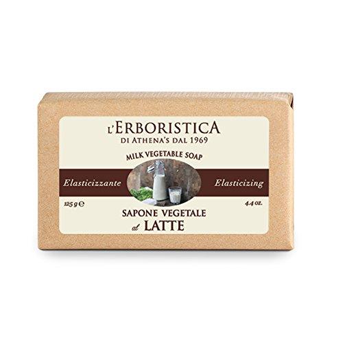 L'Erboristica di Athena's dal 1969 Sapone Vegetale Alle Proteine Del Latte, Cocco, 125 Grammo