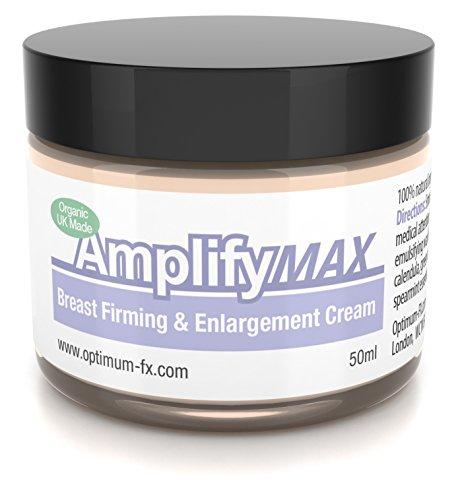 Amplify MAX Crema Rassodante Per il Seno Per 30 Giorni 11 Modi Per Un Seno Più Sodo VELOCE Made Nel Regno Unito Con Ingredienti Naturale e Biologica 50 ml