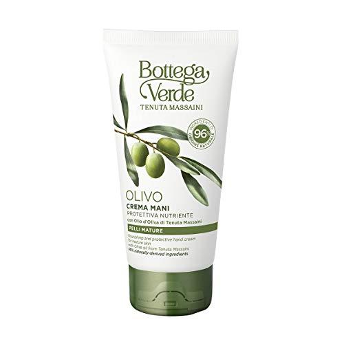 Bottega Verde, Crema Mani Olivo, Protettiva e Nutriente, con Olio d'Oliva di Tenuta Massaini, Pelli Mature (75 ml)