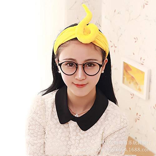 Fascia per capelli Teletubbies, fascia creativa, fascia per capelli, prodotti per il lavaggio del viso per i coinquilini-Pull giallo