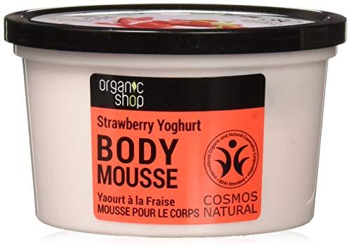 Organic Shop Body Mousse Strawberry Yoghurt Organic Strawberry & Milk 250ml