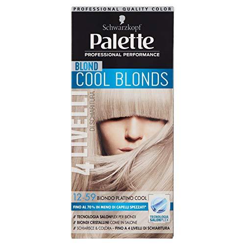 Schwarzkopf, Palette Cool Blonds, Colorazione Permanente con Tecnologia SalonPlex, 12-59 Biondo Platino Cool