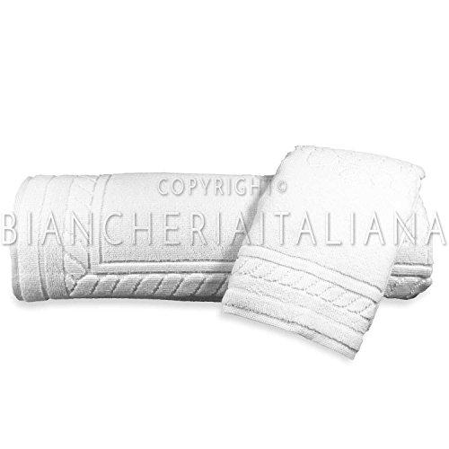 BESANA COMBY 6+6 Set Asciugamano e ospite in spugna di Puro Cotone CA' D'ORO (BIANCO)
