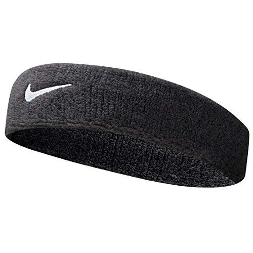 Nike Herren Stirnband Swoosh Headbands, Black/White, One Size, 9381-3