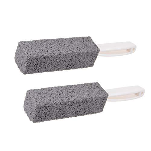 SIVENKE 2 pietre pomice per la pulizia del WC, con manico, per la pulizia delle macchie e la pulizia del WC, per barbecue, cucina, bagno, piscina e WC