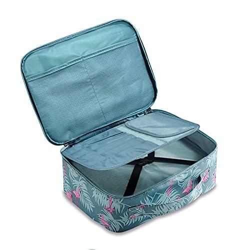 Timertick Beauty Case da Viaggio, Borsa Make Up Cosmetica Doppia Strato, Borsa da Toilette Impermeabile per Donna (Fenicottero)
