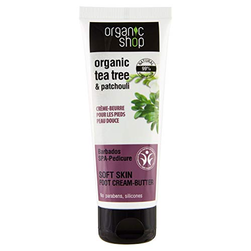 Organic Shop Burro Piedi Nutriente Tea Tree & Patchouli - 75 ml