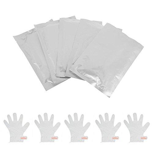 Idratanti Maschera Per Mani 5 coppie, esfoliante idratante Nourish Whitening File idratante anti-rughe Guanti Cura della pelle Mano levigante