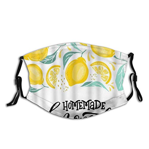 Lemon Lemonade Homemade Word Brush Calligraphy Nature Vitamin,Filtroriutilizzabilelavabileevisoparadentiriutilizzabile