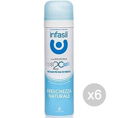 Set 6 INFASIL Deodorante Spray Freschezza Natur.Ml 150 Cura E Igiene Del Corpo