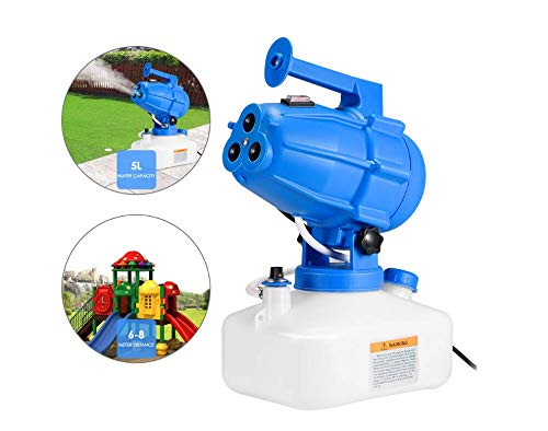 TOPQSC Portatile 5L ULV Fogger Elettrico Nebulizzatore Nebulizzatore Killer Killer, Nebulizzatore Intelligente Spruzza Spruzzatori industriali per irrigazione