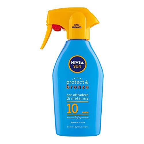 Nivea Sun Protect & Bronze Spray Solare SPF10, Protezione Bassa, 300ml