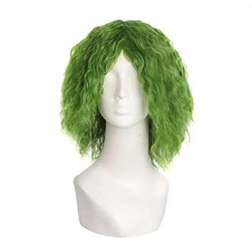 MapofBeauty Moda Cosplay Costume Sintetico Riccio (Misto Verde)