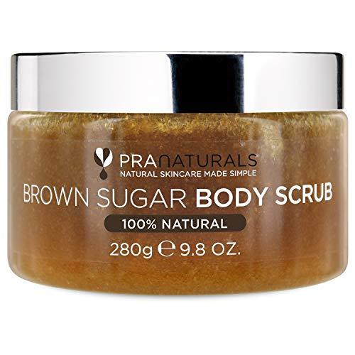 PraNaturals Scrub corpo allo zucchero di canna - Scrub esfoliante naturale – Idrata la pelle secca e rimuove delicatamente le cellule morte - 280g