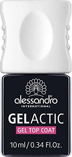 Alessandro, top coat gel Gelactic, confezione da 1 da 10ml (etichetta in lingua italiana non garantita)