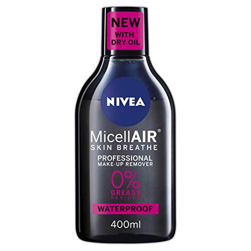 NIVEA MicellAIR Professional Micellar Water Make-Up Remover (400 ml), struccante per occhi, detergente per la pelle, struccante professionale, acqua micellare NIVEA