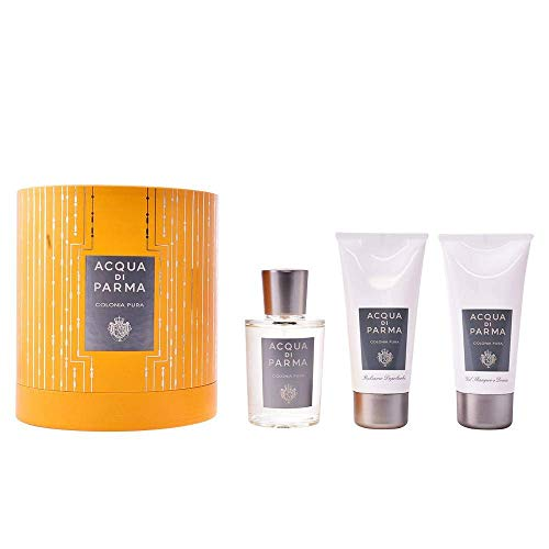 Acqua di Parma Colonia Pura Set Regalo Composto da Eau de Cologne 100 ml/Gel Doccia 75 ml e Crema Dopobarba 75 ml Unisex - Profumo Uomo