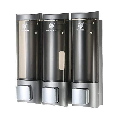 Blusea Dispenser Sapone Liquido per Bagno, 200mlx3 CHUANGDIAN Box Shampoo Muro per Cucina Doccia Liquido