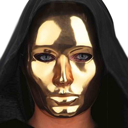 Maschera viso medio teatrale in plastica color ORO