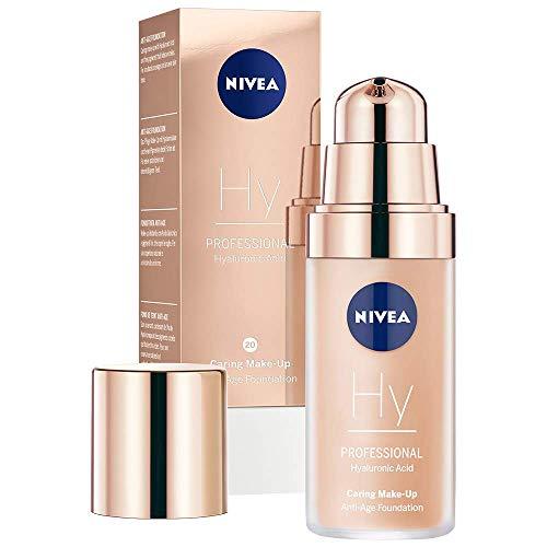 NIVEA PROFESSIONAL Make-Up Acido ialuronico Fondotinta anti-età, 20C, sottotono della pelle freddo, 1 x 30 ml