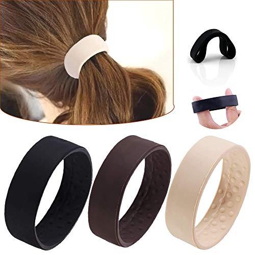 Elastici per capelli in silicone pieghevoli, senza metallo