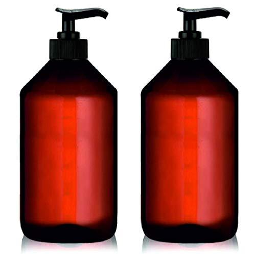 KIT Bottiglie Contagocce Ambra Vetro vuoto con pipetta Contagocce Contenitore liquidi Flaconi Olio essenziale Olio di Massaggio Profumo Aromaterapia Laboratorio con Etichette adesive (2 x 1000 ml)