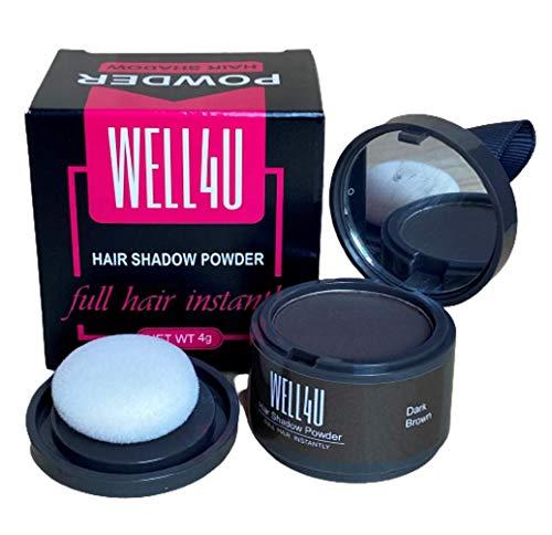 WELL4U - polvere di base per capelli - trucco per il cuoio capelluto / 11 colori - polvere di base impermeabile per donne e uomini - più mirata di spray correttore, penna correttore o vari correttori