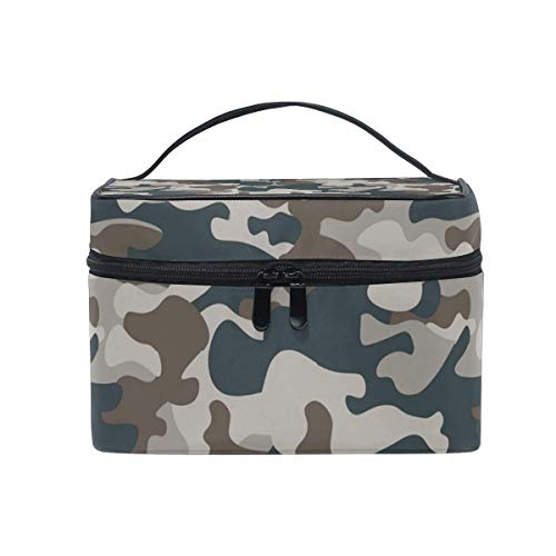 Borse per cosmetici Travel Makeup Cosmetic Bags Air Force Desert Camo Toiletry Bags Makeup Suitcase For Women Travel Daily Carry