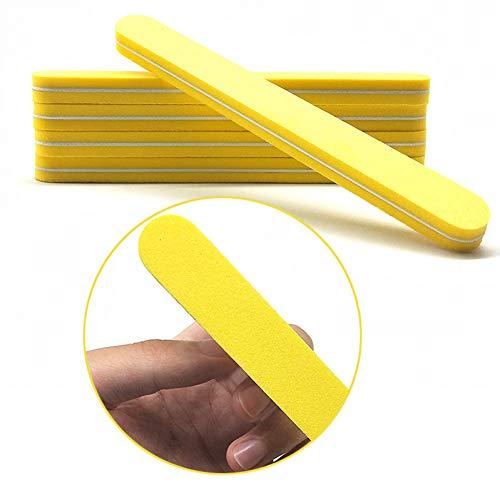 SHANYUR Lima per Unghie 10Pcs Lima per Unghie all'Ingrosso 100/180 Nail Art Levigatura Buffer Buffer Pedicure Manicure Lucidatura Gel UV Strumenti di Smalto Professionale Vijl