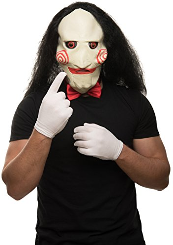Balinco Saw - Set maschera + guanti bianchi + papillon rosso