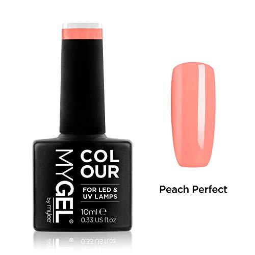 Smalto MyGel, da MYLEE (10ml) MG0077 - Peach Perfect UV / LED Nail Art Manicure Pedicure per uso professionale in soggiorno ea casa - Lunga durata e facile applicazione