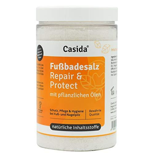 Casida - Sali da Bagno per Pediluvio Repair & Protect - per l'igiene e la cura di piede d'atleta e fungo del chiodo - con oli vegetali - la qualità delle farmacie - 375g