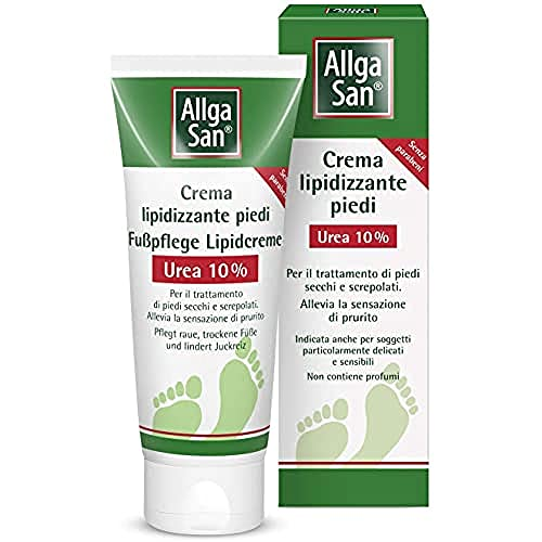 Crema piedi Lipidizzante con Urea ad alta concentrazione. Crema piedi secchi screpolati per la cura piedi. Crema piedi idratante. 100 ml.