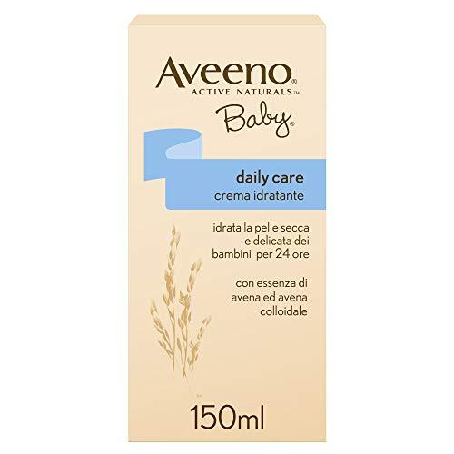 AVEENO Baby, Crema Idratante Viso e Corpo per Bambini, Daily Care, Assorbimento Rapido, con Avena Colloidale, 150ml
