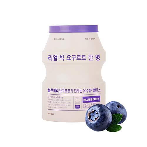 APIEU Real Big Yogurt One-Bottle (Blueberry) Balancing Care, maschera per il viso 1 pezzo